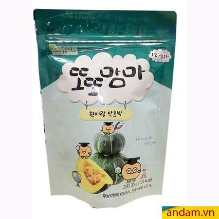 Bánh ăn dặm gạo lức Hàn Quốc 30g vị bí đỏ