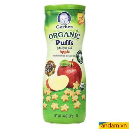 Bánh ăn dặm Gerber Organic Puffs vị táo