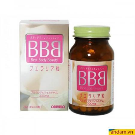 BBB (Best Beauty Body - Orihiro BB) - Viên uống nở ngực săn chắc cho phái đẹp