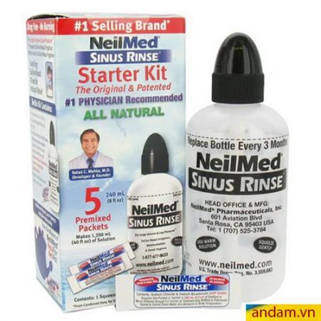 Bình rửa mũi NeilMed Starter Kit 240ml