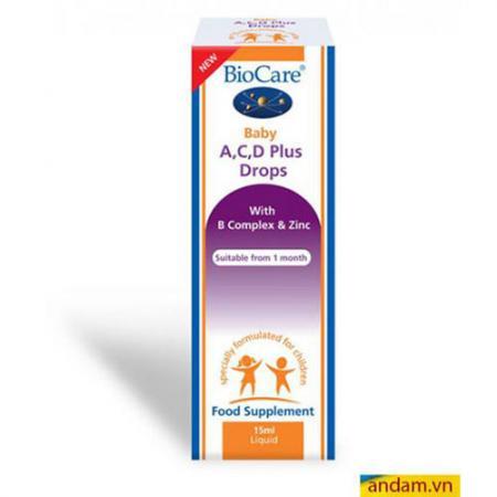 BioCare Baby thuốc bổ sung Vitamin A,C,D Plus Drops cho bé