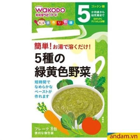 Bột ăn dặm Wakodo 5m+ vị rau củ hỗn hợp