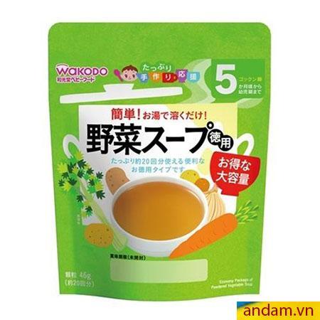 Bột Dashi Wakodo Nhật Bản vị rau củ dùng cho bé từ 5 tháng tuổi