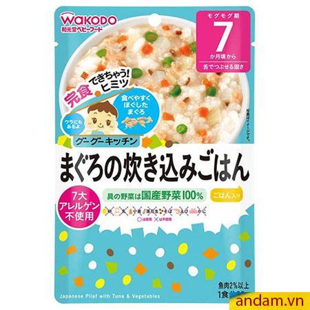Cháo ăn liền Wakodo vị cá ngừ và rau củ