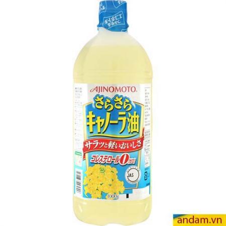 Dầu hoa cải Ajinomoto (1000g) - dầu ăn vì sức khỏe