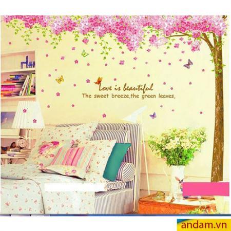 Decal dán tường cây tình yêu lớn