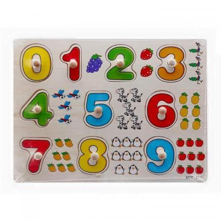 Đồ chơi ghép hình gỗ Số học từ 0 đến 9