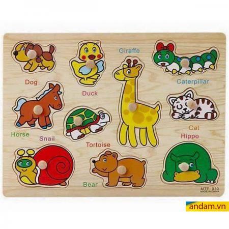 Đồ chơi ghép hình gỗ vườn thú