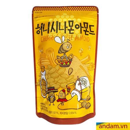 Hạt hạnh nhân trộn mật ong túi 250g