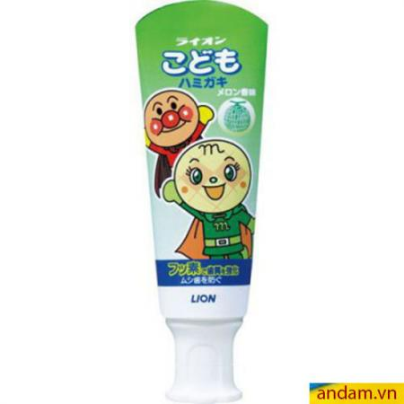 Kem đánh răng trẻ em LION 40g vị dưa lưới