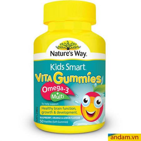 Kẹo KIDS SMART VITA Gummies OMEGA 3 – Úc