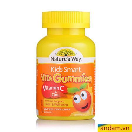Kẹo Vitamin Nature's Way bổ sung Vitamin C và Kẽm hộp 60 viên