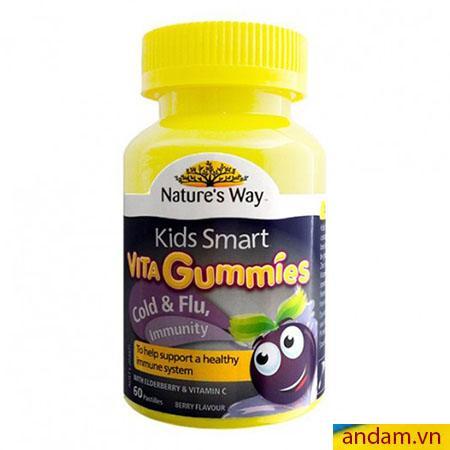 Kẹo Vitamin Nature's Way trị cảm cúm và miễn dịch hộp 60 viên