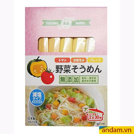 Mì somen rau củ Ryohin vị bí đỏ và cà chua
