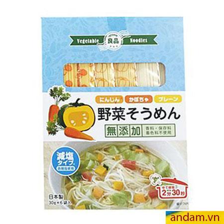 Mì somen rau củ Ryohin vị cà rốt và bí đỏ