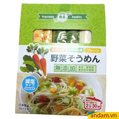 Mì somen rau củ Ryohin vị rau và cà rốt