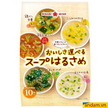 Miến ăn liền Hikari Miso bịch 10 gói, 5 vị 126g
