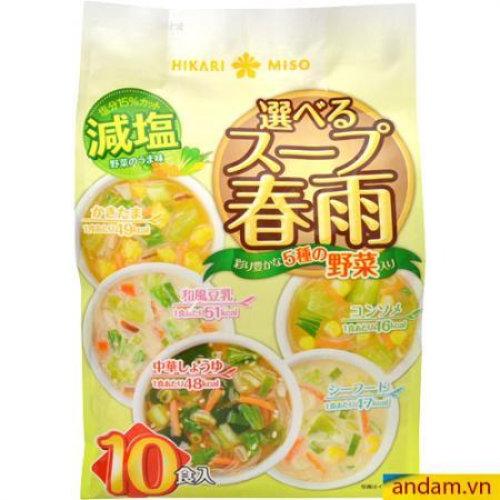 Miến ăn liền Hikari Miso bịch 10 gói, 5 vị 141.2g