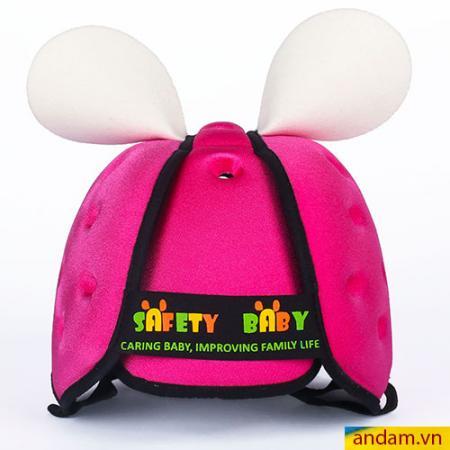 Mũ cho bé tập đi Safety Baby màu hồng