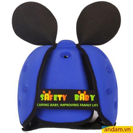 Mũ cho bé tập đi Safety Baby xanh đậm