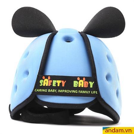 Mũ cho bé tập đi Safety Baby xanh nhạt
