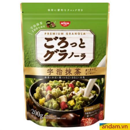 Ngũ cốc Nissin 200g vị trà xanh và hoa quả