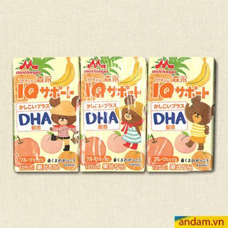 Nước ép Morinaga DHA vị táo, đào, thơm, chuối