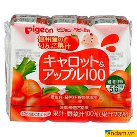 Nước ép Pigeon vị táo cà rốt