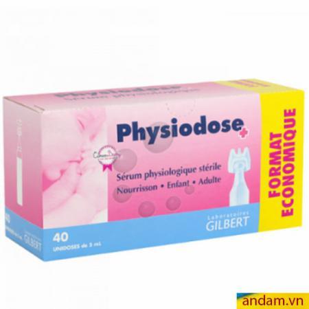 Nước muối sinh lý Physiodose hộp 40 ống x 5ml