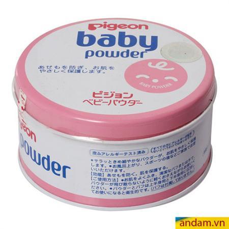 Phấn rôm Pigeon Baby Powder 150g hộp thiết màu hồng
