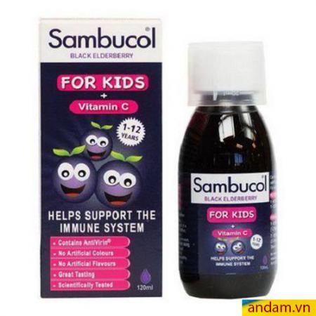 Sambucol Siro tăng cường sức đề kháng cho bé yêu