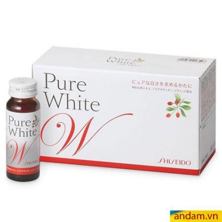 Shiseido pure white – nước uống làm trắng da