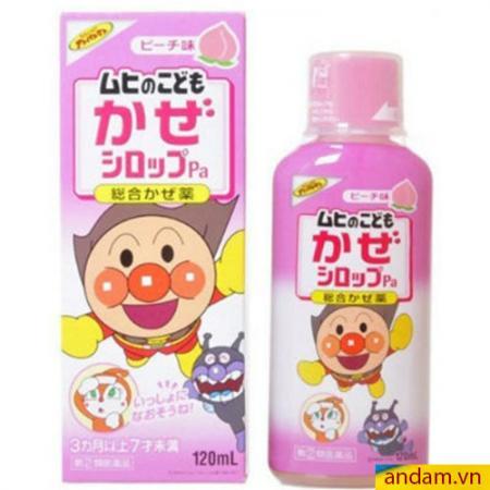 Siro Muhi Nhật Bản 120ml màu hồng trị cảm, sốt