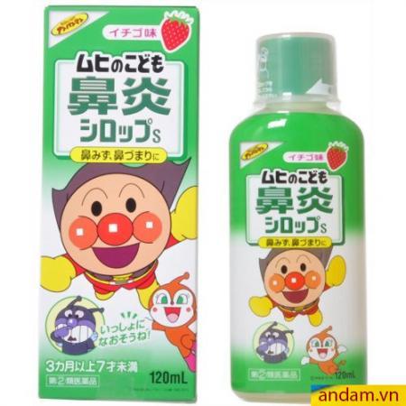 Siro Muhi Nhật Bản 120ml xanh lá trị sổ mũi