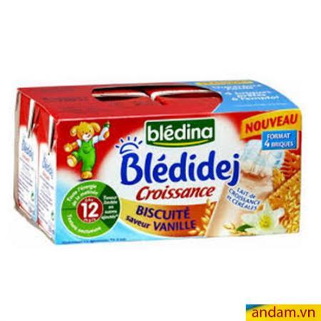 Sữa Bledina số 12 vị Biscuite và vani lốc 4 hộp