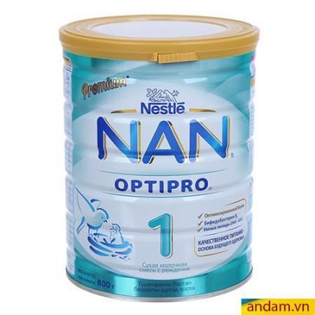 Sữa bột Nan Nga số 1 800g cho bé 0-6 tháng tuổi