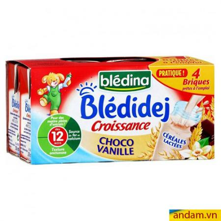 Sữa nước Bledina của Pháp vị Choco vani 12m+ lốc 4 hộp