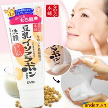 Sữa rửa mặt dưỡng ẩm mầm đậu nành Sana