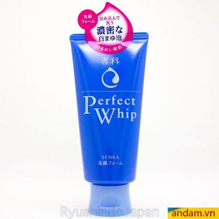 Sữa rửa mặt Shiseido Perfect Whip Foam xanh 120g