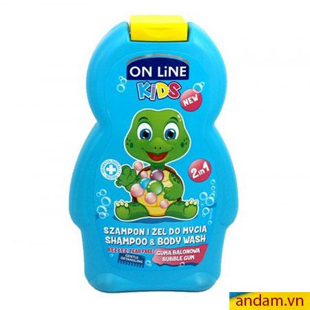 Sữa tắm gội 2in1 On Line Kids mùi kẹo Gum