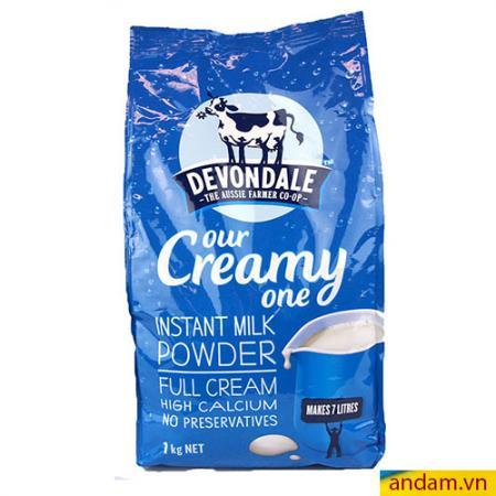 Sữa tươi dạng bột Devondale nguyên kem 1kg