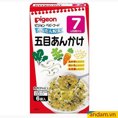 Súp Pigeon vị cá cơm và rau củ