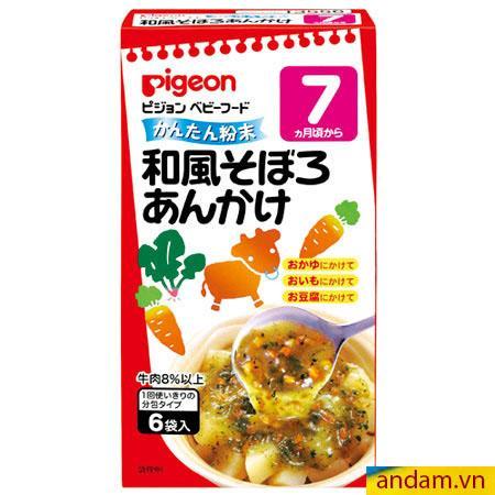 Súp Pigeon vị thịt bò và rau củ