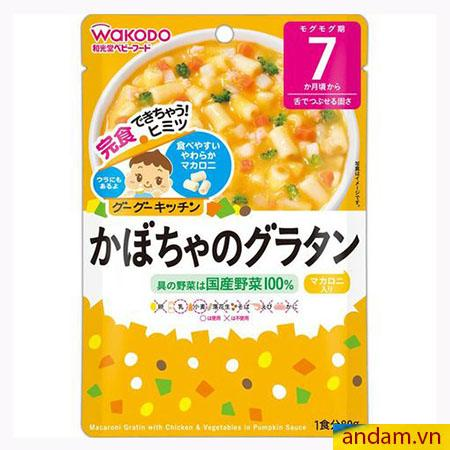 Súp Wakodo nui ống vị bí ngô, súp lơ