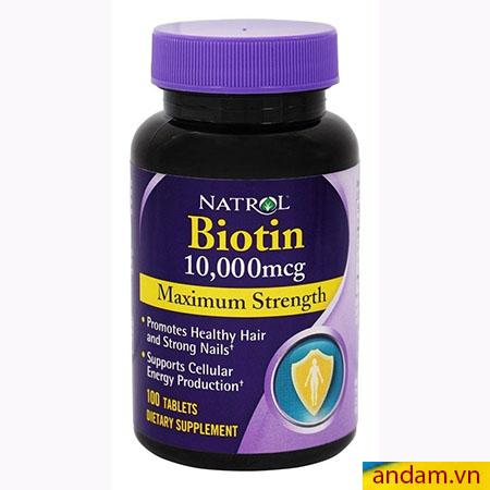 Thuốc bổ trị rụng tóc Biotin 10,000mcg