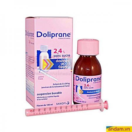 Thuốc hạ sốt Doliprane 2.4% (100ml)