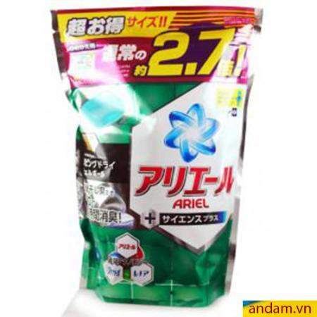 Viên giặt Gel Ball Ariel xanh lá (túi 48 viên)