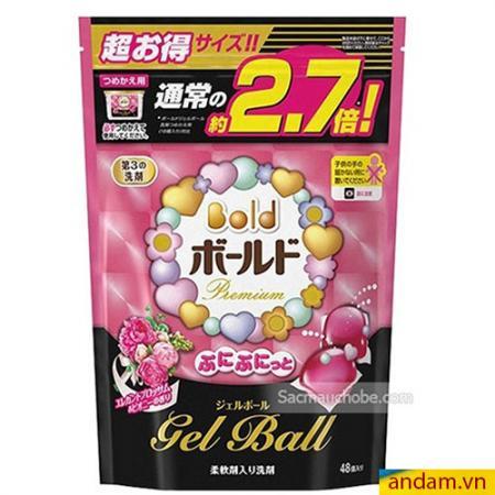 Viên giặt xả Gel Ball hồng 48 viên
