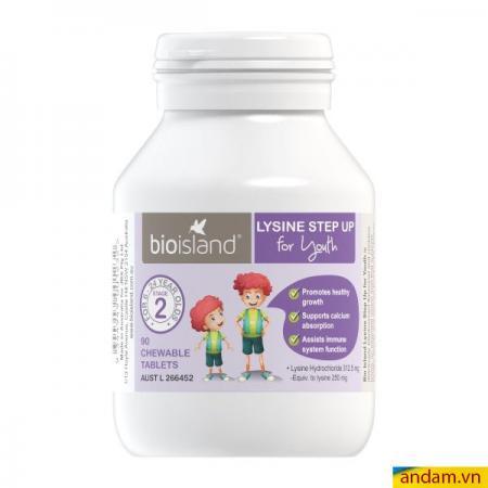 Viên tăng chiều cao & miễn dịch Lysine Bio Island 90 viên cho bé từ 6-24 tuổi