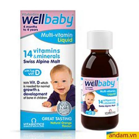 Vitamin tổng hợp Wellbaby Multi-vitamin Liquid 150ml của Anh